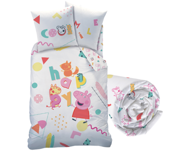 Peppa Pig Duvet Cover Set Memphis - Single - Including Fitted sheet
