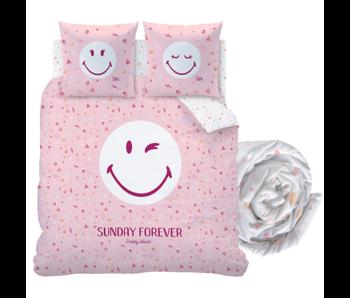 Smiley World Bettbezug Set Sonntag - Doppel - Inklusive Spannbetttuch