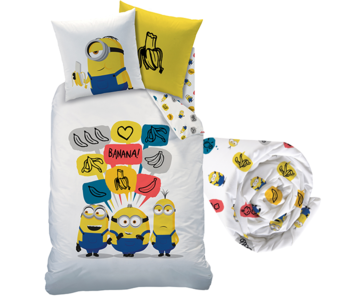 Minions Duvet Cover Set Banana - Single - Including Fitted sheet