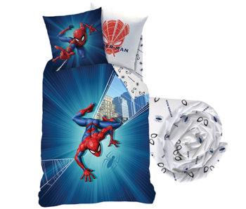 SpiderMan Duvet Cover Set City - Single - Including fitted sheet
