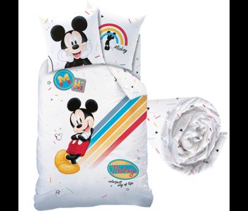 Disney Mickey Mouse Bettbezug Set Bunt - Einzel - Inklusive Spannbetttuch