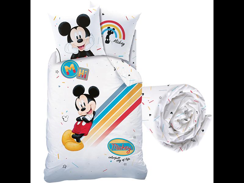 Disney Mickey Mouse Dekbedovertrek Set Colourful - Eenpersoons - Inclusief Hoeslaken - Katoen