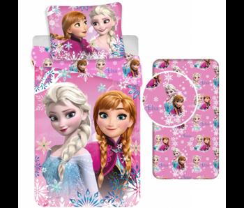 Disney Frozen Ensemble housse de couette Sisters - Simple - Drap housse inclus