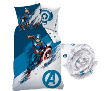 Marvel Avengers Bettbezug Set Force - Single - Inklusive Spannbetttuch