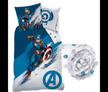 Marvel Avengers Ensemble housse de couette Force - Simple - Drap housse inclus