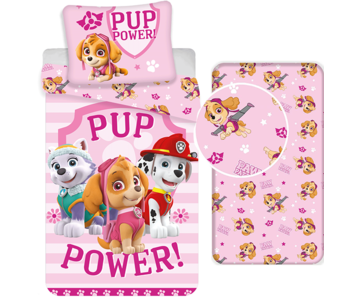 PAW Patrol Duvet Cover Set Skye - Single - Including fitted sheet