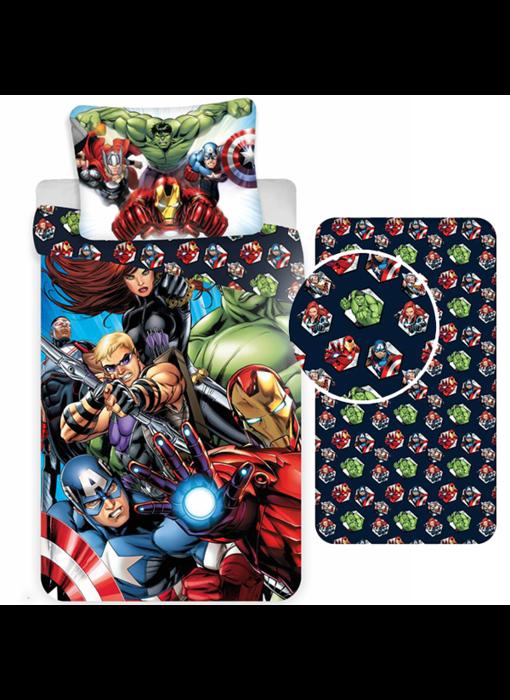 Marvel Avengers Dekbedovertrek Set Superhelden - Eenpersoons - Inclusief Hoeslaken
