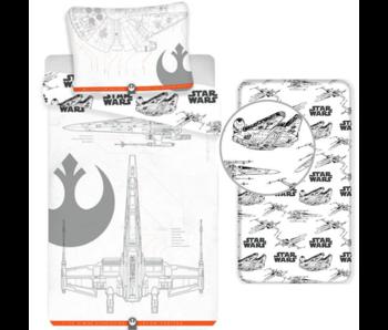 Star Wars Bettbezug Set 9 - Single - Inklusive Spannbetttuch