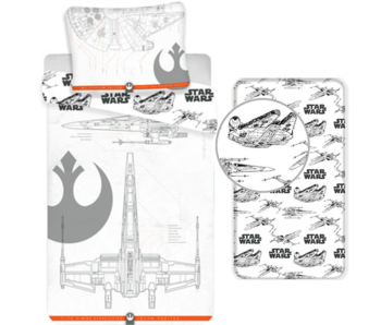 Star Wars Duvet Cover Set 9 - Single - Including Fitted Sheet