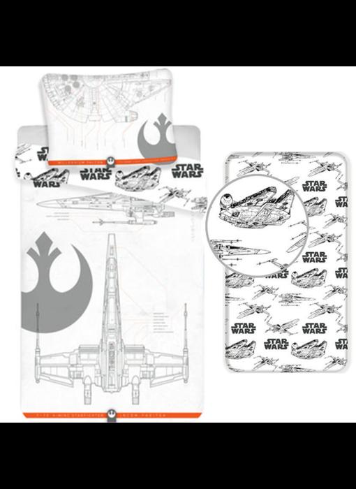 Star Wars Dekbedovertrek Set 9 - Eenpersoons - Inclusief Hoeslaken