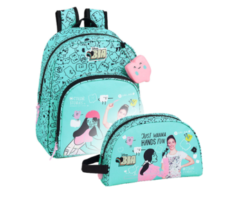 Disney Bia Backpack Set Color Stories - Backpack and Pouch