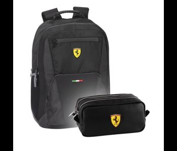 Ferrari Backpack Set Racing - Sac à dos et pochette