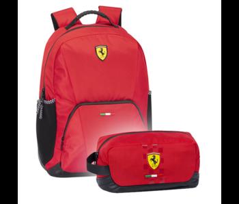 Ferrari Ensemble de sac à dos rouge - Sac à dos et pochette