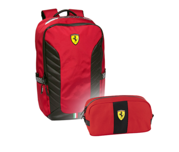 Ferrari Backpack Set Rossa Corsa - Backpack and Pouch