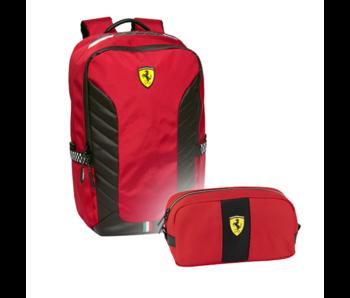 Ferrari Rugzak Set Rossa Corsa - Rugzak en Etui