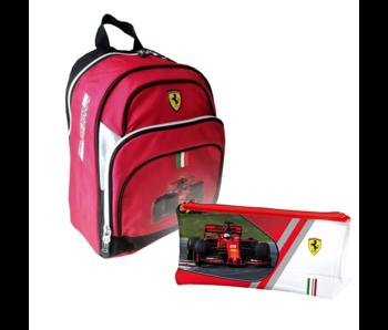 Ferrari Ensemble de sac à dos F1 - Sac à dos et pochette remplie pour tout-petit