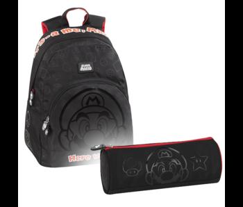 Super Mario Ensemble de sac à dos Outline - Sac à dos et pochette