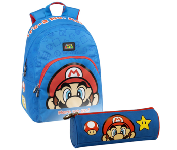 Super Mario Backpack Set Power-Up - Backpack and Pouch