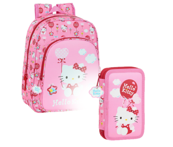 Hello Kitty Backpack Set Sweet - Backpack and Filled Case - 28 pcs.