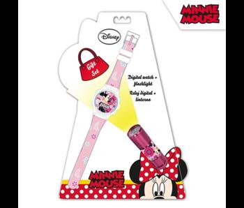 Disney Minnie Mouse Horloge + Zaklamp Set