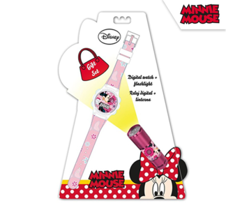 Disney Minnie Mouse Watch + Flashlight Set