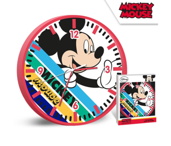 Disney Mickey Mouse Wanduhr Streifen - ø 24 cm