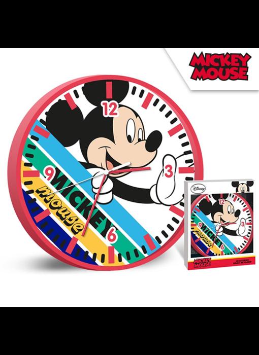 Disney Mickey Mouse Wandklok Stripes - ø 24 cm