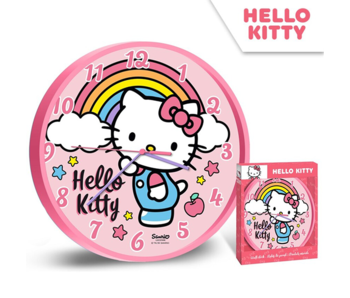 Hello Kitty Wandklok Rainbow - ø 24 cm