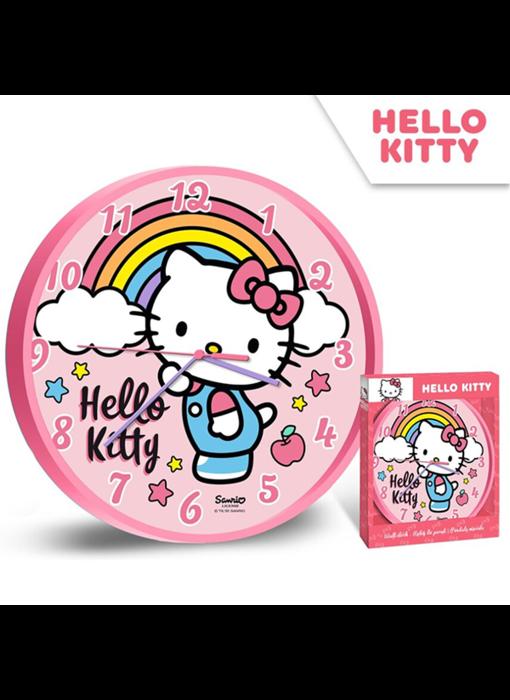 Hello Kitty Wandklok Rainbow - ø 24 cm