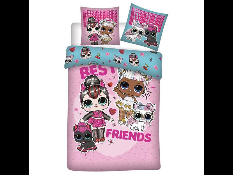 LOL Surprise! Housse de couette Best Friends - Simple - 140 x 200 cm - Flanelle