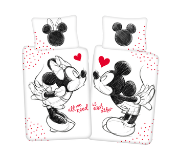 Disney Minnie Mouse & Mickey Mouse Dekbedovertrek All We Need 140 x 200