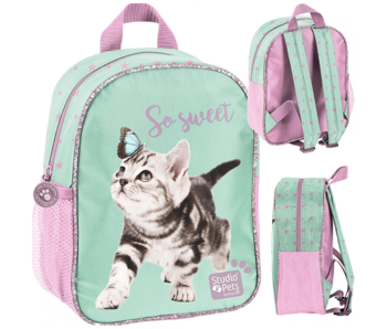 Studio Pets Toddler backpack Kitten and Butterfly - 29 cm