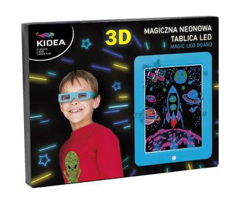 Kidea Écran de dessin 3D bleu