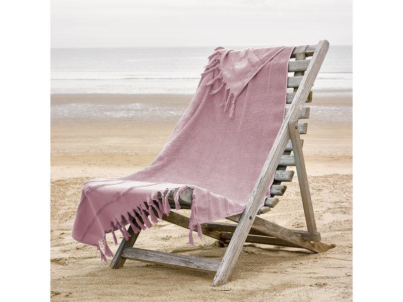 De Witte Lietaer Hamam strandlaken met flosjes Fjara -100 x 180 cm - Zephyr