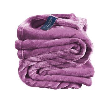 De Witte Lietaer Fleece deken Smoky Grape 150 x 200 cm