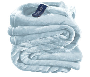 De Witte Lietaer Fleece throw Cozy 150x200 ice blue 100% polyester