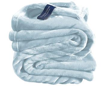 De Witte Lietaer Fleeceüberwurf Cosy 150x200 eisblau 100% Polyester