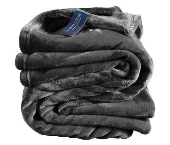 De Witte Lietaer Fleeceüberwurf Gemütliches 150x200 dunkles Ebenholz 100% Polyester