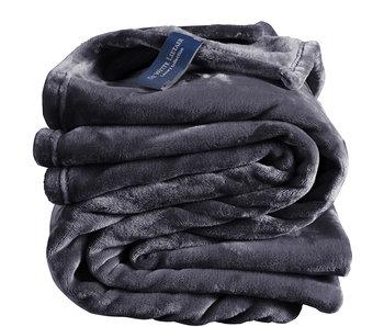 De Witte Lietaer Fleece deken Blue Graphite 150 x 200 cm