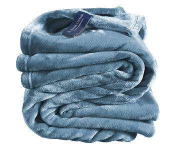 De Witte Lietaer Fleece deken Arctic Blue 150 x 200 cm