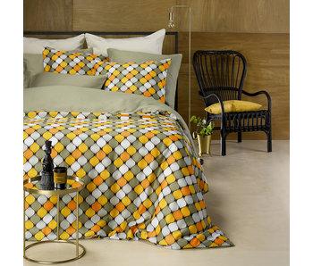 De Witte Lietaer Bettbezug Baumwolle Satin Mandelgrün 140 x 200/220 cm