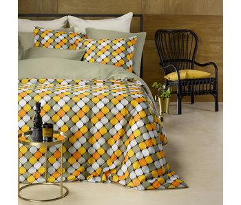 De Witte Lietaer Bettbezug Baumwolle Satin Mandelgrün 200 x 200/220 cm