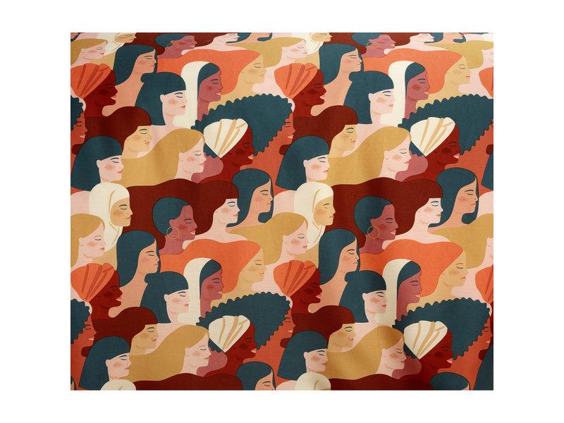 De Witte Lietaer Housse de couette Satin de Coton Anaïs - Taille hôtel - 260 x 240 cm - Vert