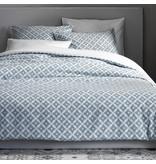 De Witte Lietaer Housse de couette Azulejos Satin de Coton - Simple - 140 x 200/220 cm - Bleu