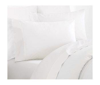 De Witte Lietaer Ensemble de draps double Willow 260x275 + 60x70 (2) Blanc 100% coton, flanelle