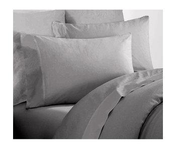 De Witte Lietaer Single sheet set Willow 180x280 + 60x70 Natural gray 100% cotton, flannel