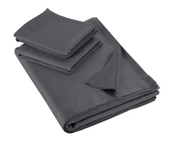 De Witte Lietaer Bed sheet set Olivia 280x280 + 60x70 (2) Ebony 100% cotton, satin