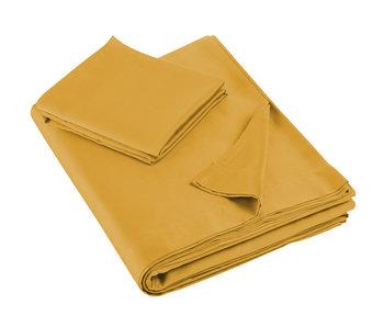 De Witte Lietaer Single sheet set Olivia 180x280 + 60x70 Golden Yellow 100% cotton, satin