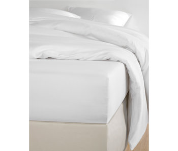 De Witte Lietaer Fitted sheet Cotton Satin Olivia White - 140 x 200 cm