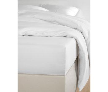 De Witte Lietaer Spannbetttuch Baumwollsatin Olivia Weiß - 90 x 200 cm